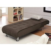 Sophisticated Chaise Sofa Bed, Brown