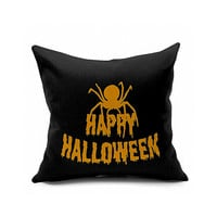 Cotton Flax Pillow Cushion Cover Halloween    WS161