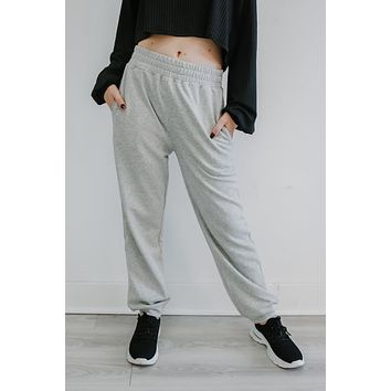 Lounge Around Sweatpants - Heather Grey