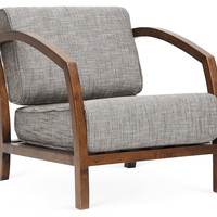 Velda Accent Chair, Gray/Brown, Accent & Occasional Chairs