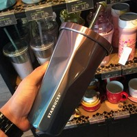 Stainless Steel Cup Hot Sale Gradient Mug Coffee Cup Straw [10687493127]