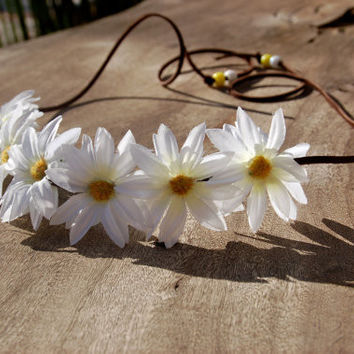 Daisy Flower Headband Halo Crown - Available in 3 Colors