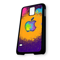 Apple Colorful Paint Samsung Galaxy S5 Case