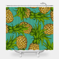 Crazy Pineapples Shower Curtain