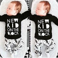 New style summer boss baby boy clothing set casual t-shirt + pants cotton baby clothes suit children sets kids clothing bebe