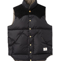 Neighborhood - Rocky Mountain Down-Filled Suede-Panelled Shell Gilet | MR PORTER