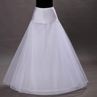 High Quality A Line 1-hoop 2-layer Tulle Wedding Bridal Petticoat Underskirt Crinolines for Wedding Dress