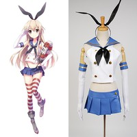 Anime Game Kantai Collection Cosplay Costumes Shimakaze Cosplay Costumes Sailor Navy Halloween Girls' cosplay dress