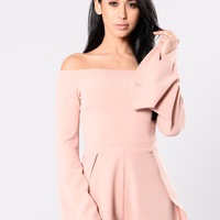 Blessed And Well Dressed Romper - Mauve