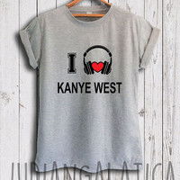 i love music kanye west shirt kanye west merch tshirt gray and white color unisex size