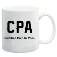 CPA Accountant Tax Season Funny Mug