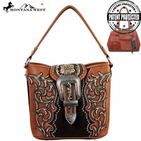 Montana West MW137G-916 Buckle Concealed Carry Handbag