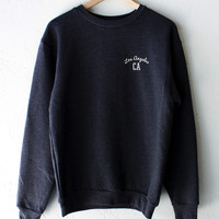 Los Angeles CA Oversized Sweatshirt - Dark Heather Grey