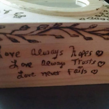 Rustic Wood Burned Engagement Keepsake Box Marry Me With Love Quotes and Vines Can be Engraved and Stained Dated Personalized