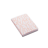 """""""For My Eyes Only"""" Leather Notebook - Neon Orange - S from Nuuna"""