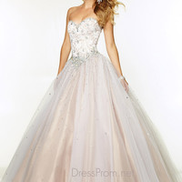 Sweetheart Lace With Tulle Ball Gown Paparazzi Prom Dress By Mori Lee 97076