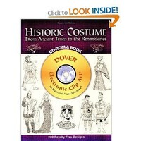 Historic Costume CD-ROM and Book: From Ancient Times to the Renaissance (Dover Electronic Clip Art)