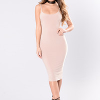 Always A Winner Dress - Mocha