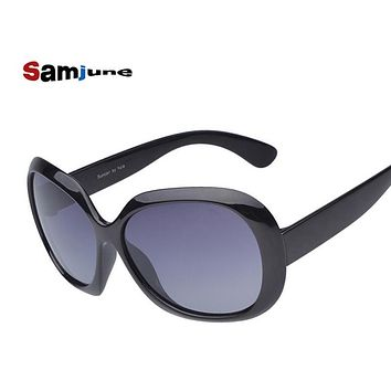 Samjune New design Women's Polarized Sunglasses Luxury Sun Glasses Vintage leisure Goggles brand Eyeglasses fashion glass