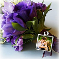 Wedding Bouquet Charm | Custom Photo charm | Wedding Day Photo Charm | Wedding keepsake