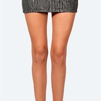Haute Hippie - French Cup Sequin Mini Skirt - Black- Big Drop NYC