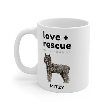 love + rescue Mug — Bouvier Des Flandres