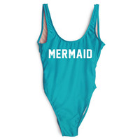 MERMAID  High Cut One Piece  Swimsuit