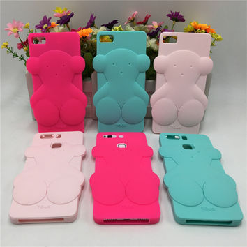 Cute Bear Silicon Phone Cases Fundas For iPhone 5 5s 5C 6 6s 6 Plus 7 7 Plus For Huawei P8 P9 lite for samsung  J5 J7 S7 Coque