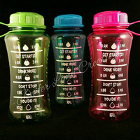 FREE SHIPPING ~ 28.5 Ounce Plastic Water Bottle with Screw Top - Keep Track of Your Daily Water Intake