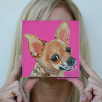 Custom dog painting Chihuahua painting Dogs Dog art Dog portrait pet portrait pet painting