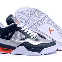 Cheap Nike Air Jordan 4 11Lab4 Men Shoes White Navy Orange