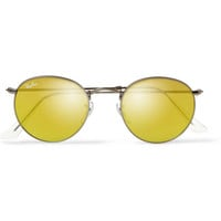 Ray-Ban - Etched Matte-Gunmetal Round-Frame Sunglasses | MR PORTER