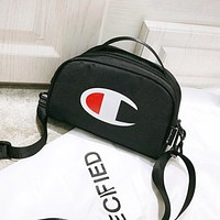 Champion New fashion logo print shoulder bag women Black
