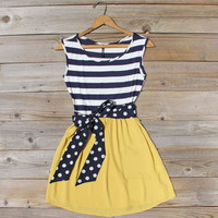 Smoke Blossom Dress in Yellow