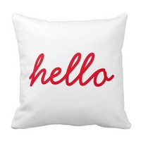 Hello Pillow (Red)