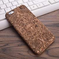 Vintage Mayan or Incan symbol of Sun or Star Cork Phone Case For iPhone 7 7Plus 6 6s Plus