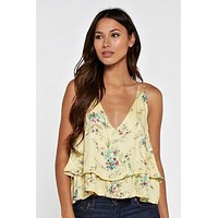 Lovestitch Double Layer Floral Tank