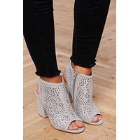 Tamera Peep Toe Booties (Light Grey)