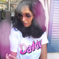 DDLG Clothing, Yes Daddy Shirt, DDLG Tshirt, Daddy T-shirt, DDLG Clothes, Femme Top, Daddy's Girl T Shirt