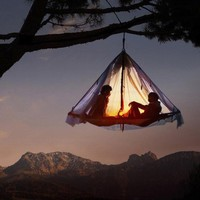 tent in a tree