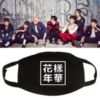 Hot Sale Mask In Bloom Bangtan Boys Cotton Masks  Jimin Jungkook Winter Mouth Face Muffle SWQ237
