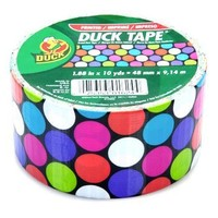 """Duck Brand Candy Dot Printed Duct Tape, 10 yards Length x 1-7/8"""" Width:Amazon:Home Improvement"""