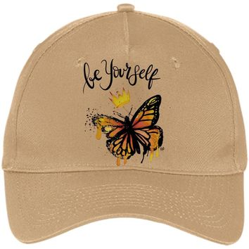 "Butterfly Be Yourself Design Inspiring Butterfly Baseball Cap - ""Be Yourself"""