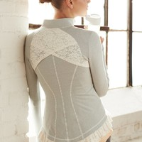 Pure + Good Lined Lace Jacket
