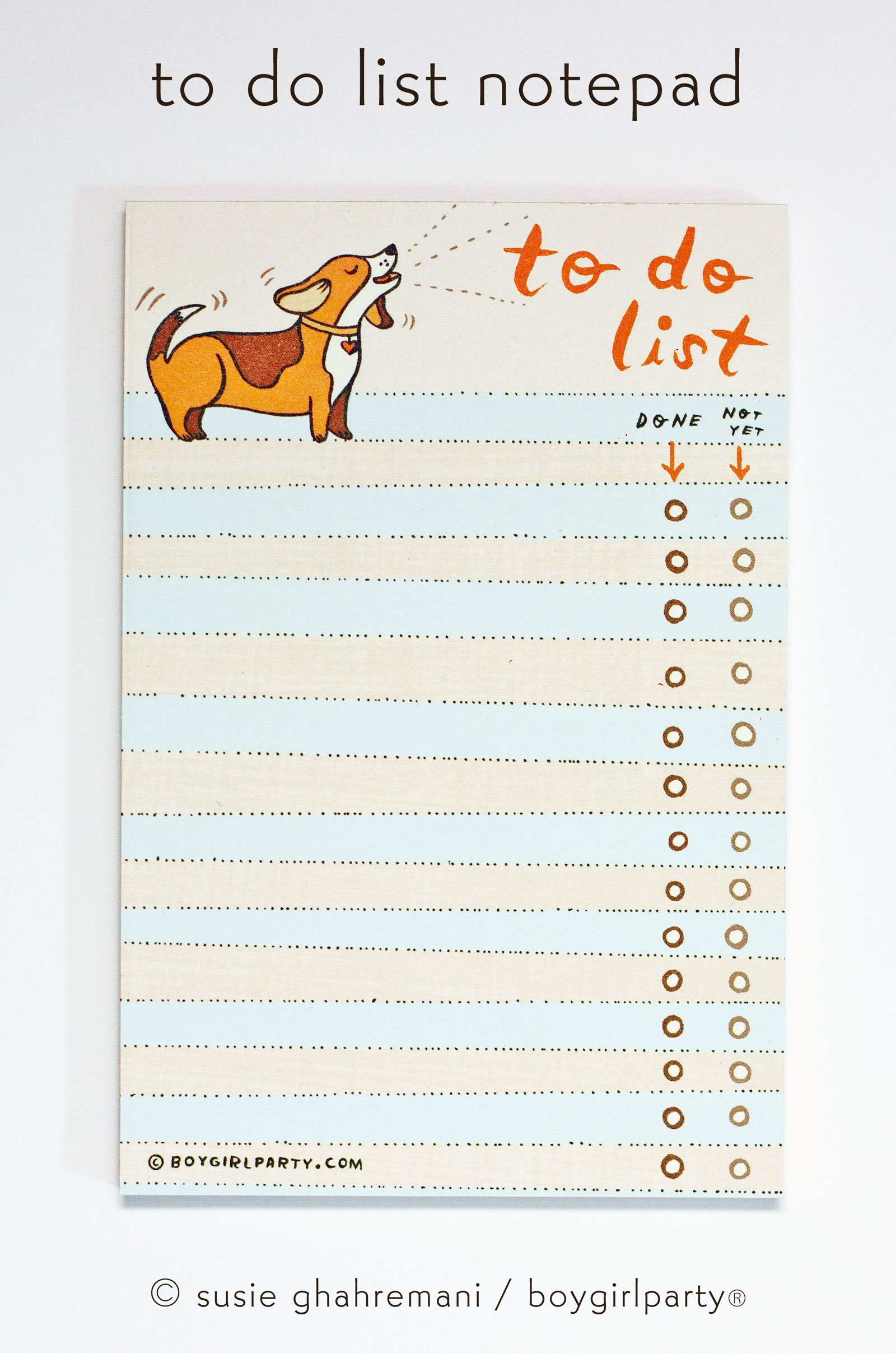 Image of Beagle To Do List Notepad –Paper Gifts for Friends –Beagle Gift Ideas