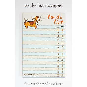 Beagle To Do List Notepad –Paper Gifts for Friends –Beagle Gift Ideas