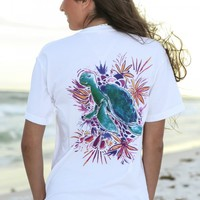 Sweet Southern Summer Tee-Sea Turtle