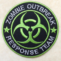 Zombie Outbreak Logo Iron On Patch