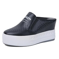 Casual Slippers Platform Wedges Shoes for Woman 5422