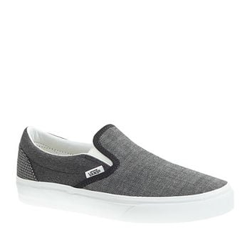 Unisex Vans For J.Crew Classic Slip-On Shoes In Suiting Mix